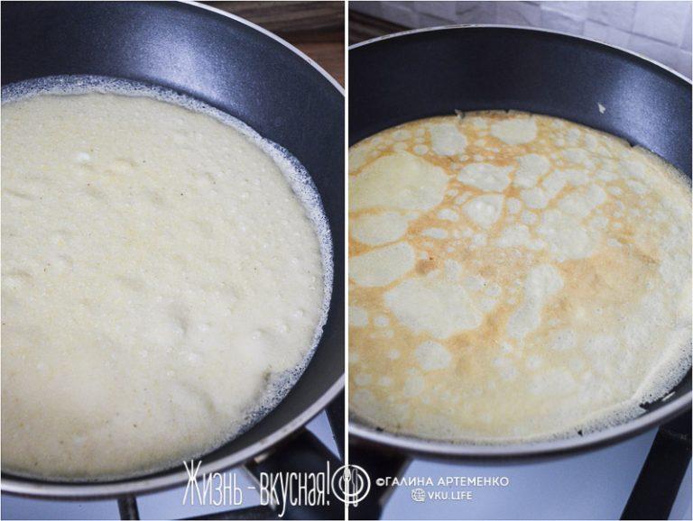 кукурузные блины рецепт с фото