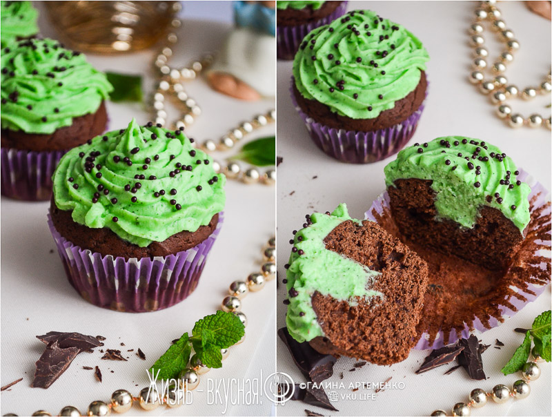 шоколадные капкейки рецепт