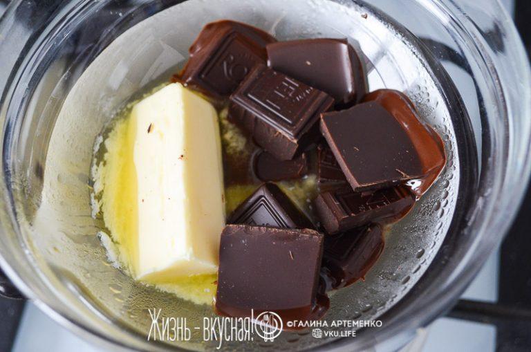 шоколадный фондан пошаговый рецепт