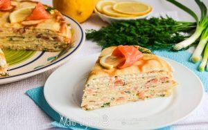 блинный торт с рыбой