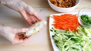 спринг роллы из рисовой бумаги