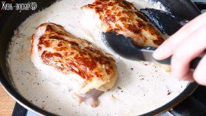 рецепт курицы со сливками