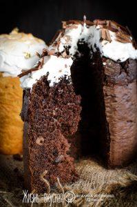 шоколадный пасхальный кулич
