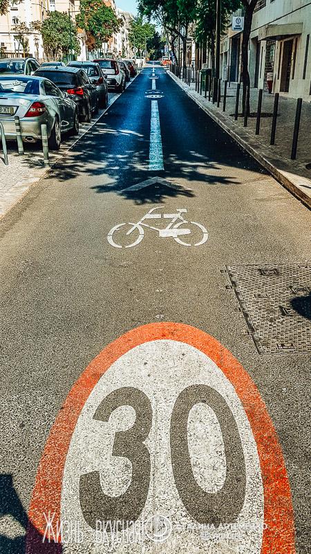 велосипедные дорожки в лиссабоне