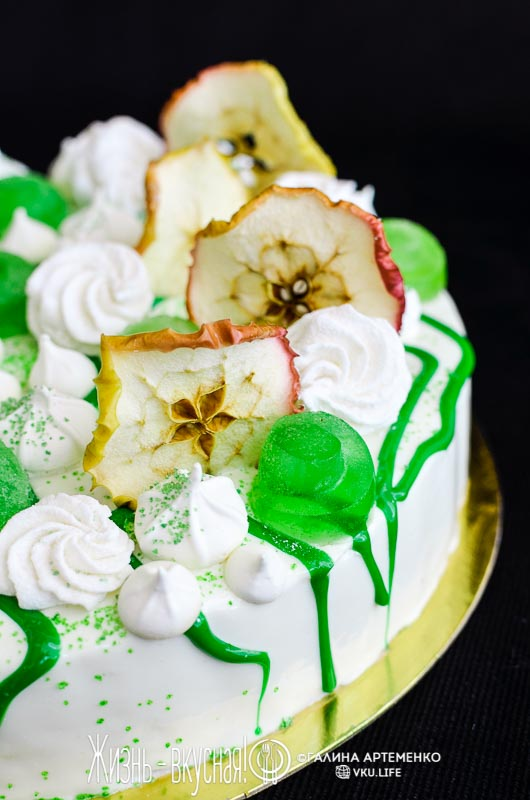 яблочный муссовый торт рецепт