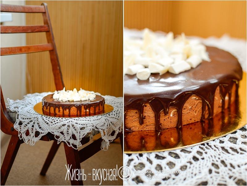 торт птичье молоко шоколадный