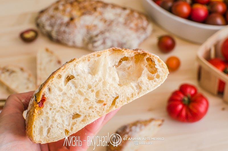 домашний хлеб чиабатта в духовке