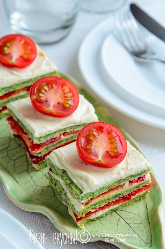 закусочный торт овощная закуска