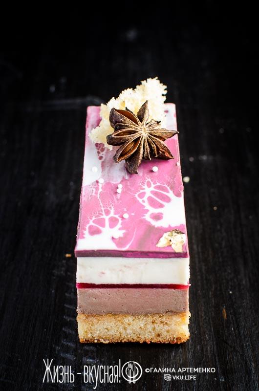 муссовый торт малина анис