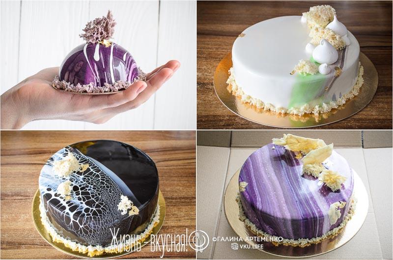 торт украшенный мхом