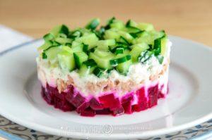 салат на праздничный стол без майонеза с тунцом