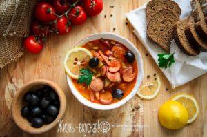 суп солянка с колбасой рецепт