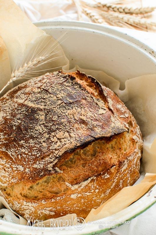 хлеб без замеса просто