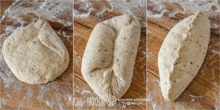 домашний хлеб с семенами льна