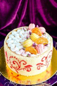 лимонный вишневый торт