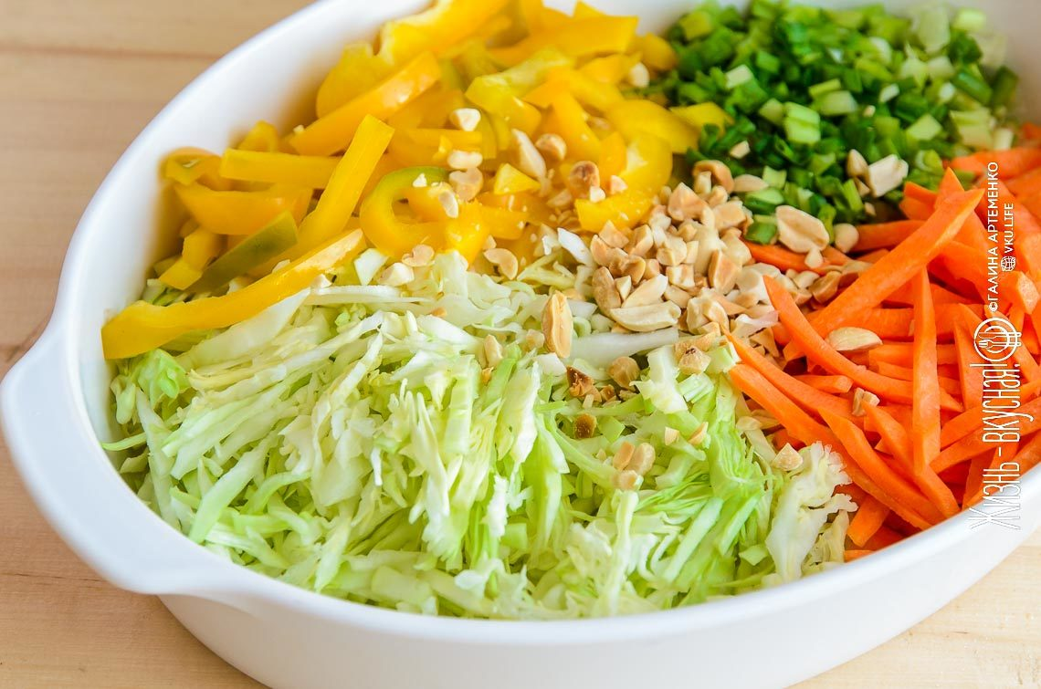салаты из свежей капусты рецепты