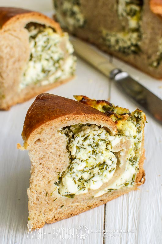 хлеб с зеленью в духовке