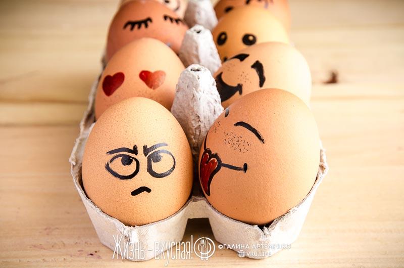 яйца на пасху без красителей