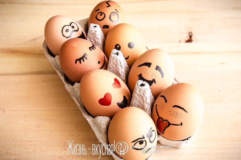 как покрасить яйца без красителей на пасху
