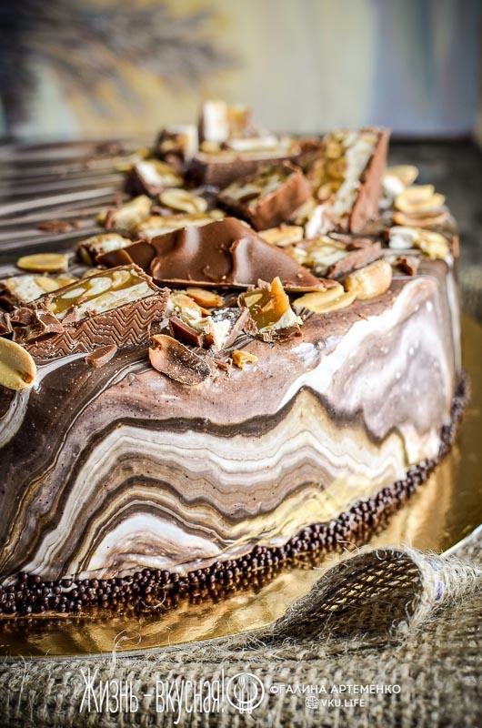 муссовый торт сникерс