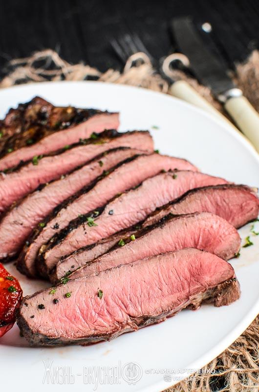 стейк из говяжьего сердца