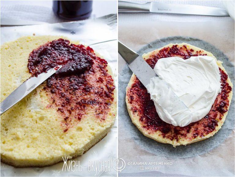 торт со смородины вареньем