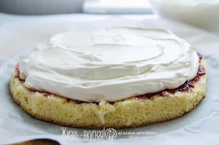 творожный торт со смородиной