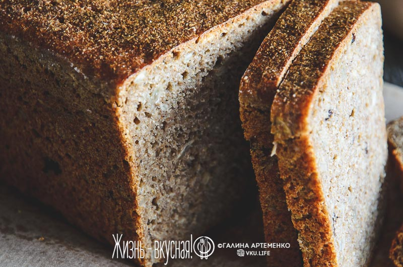 простой хлеб из ржаной муки