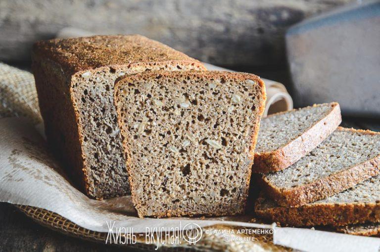 простой ржаной хлеб в духовке