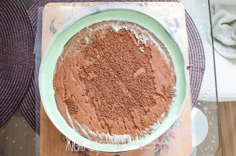 муссовый торт шоколадный пошагово фото