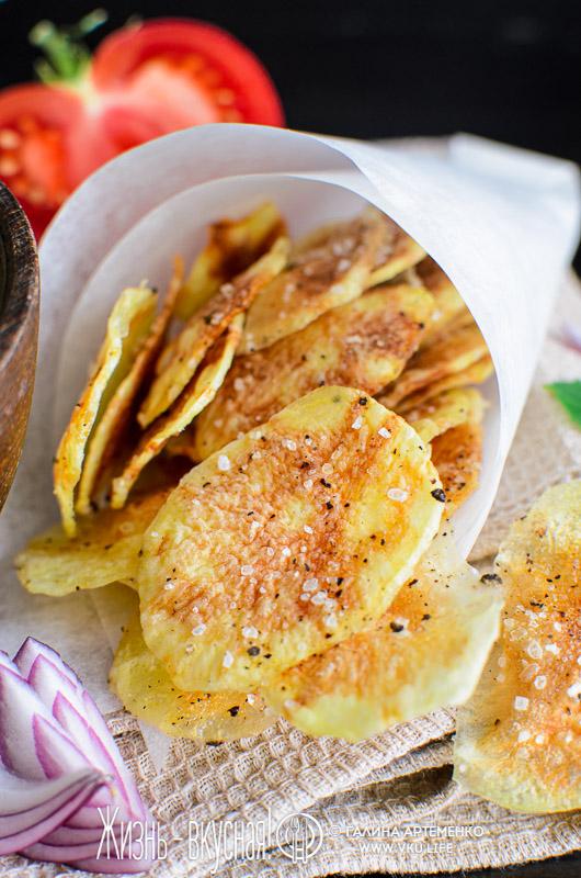 домашние чипсы из картошки в микроволновке