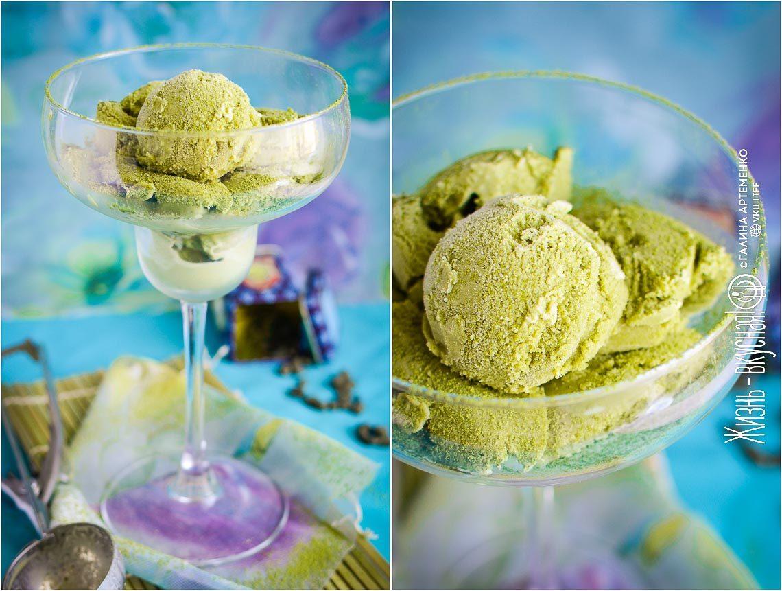 мороженое матча