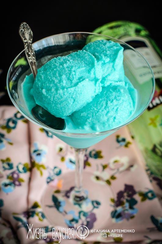 мороженое с мартини