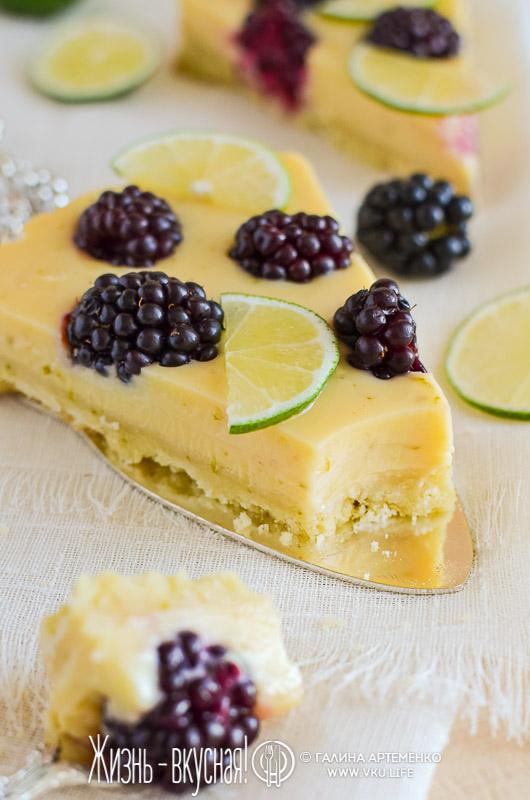 пирог в духовке с ежевикой