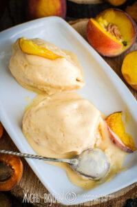 мороженое из персиков и абрикосов