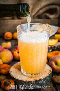 персик и абрикос квас