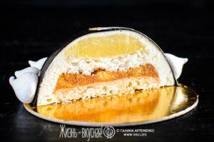 торт с абрикосами персиками лимоном