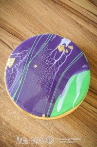 муссовый торт с ежевикой