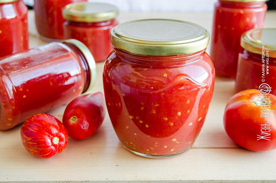 помидоры в собственном соку на зиму без