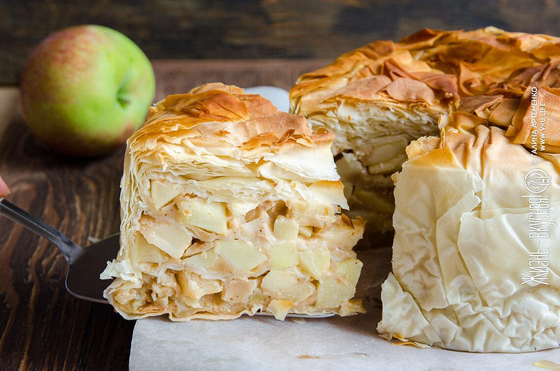 яблочный пирог мало теста