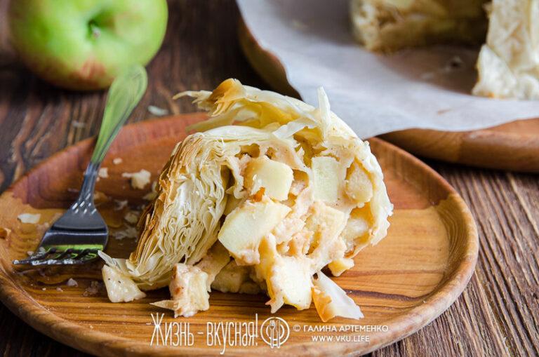 яблочный пирог много яблок мало теста