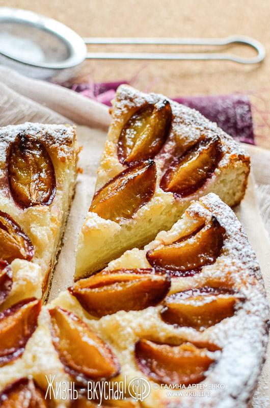 сливовый пирог рецепт в духовке