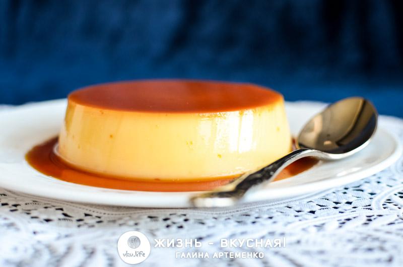 флан десерт