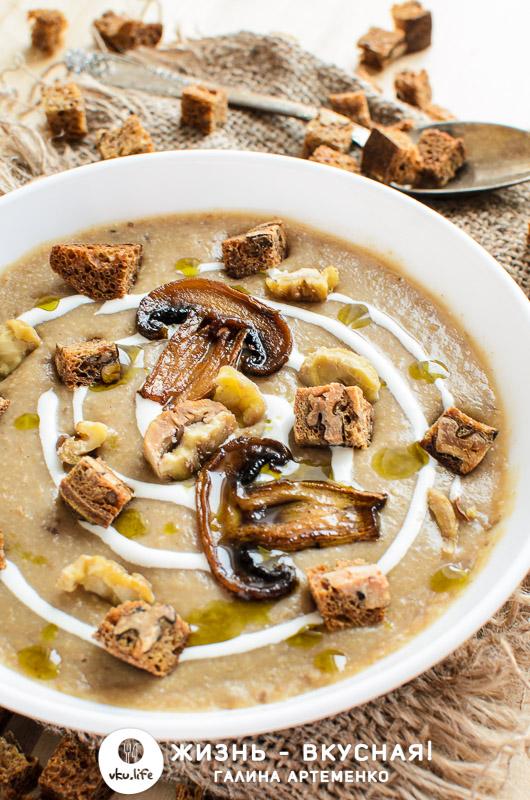 грибной крем суп со сливками