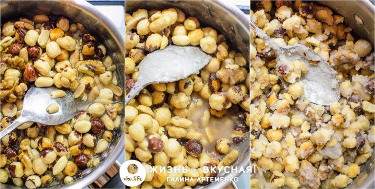 саблированные орехи в сахаре
