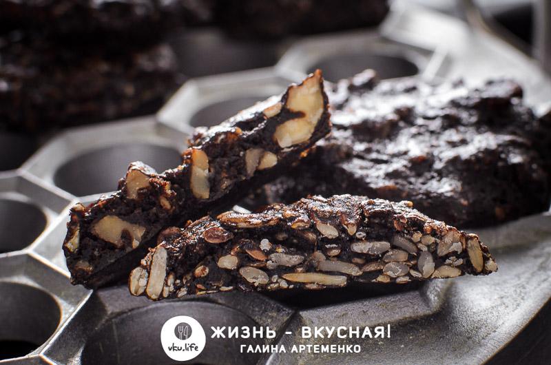 печенье с какао и орехами рецепт