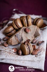 шоколадная начинка для макарон