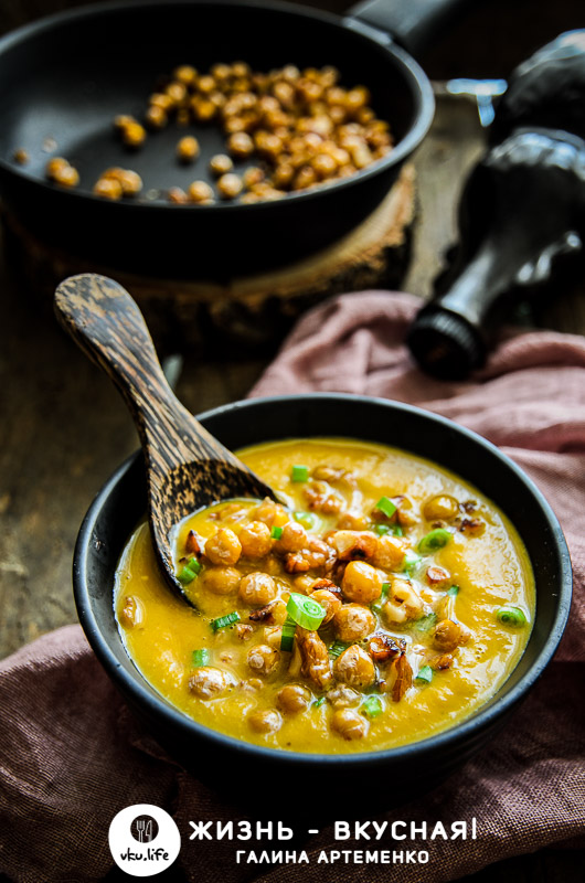 суп пюре из тыквы с нутом