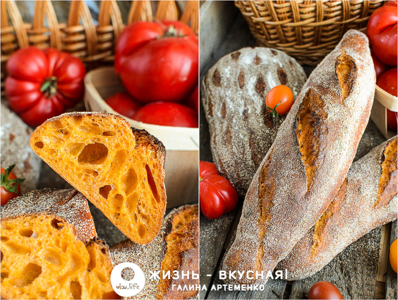 томатный хлеб на закваске