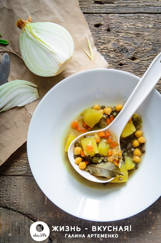 гороховый суп без копченостей